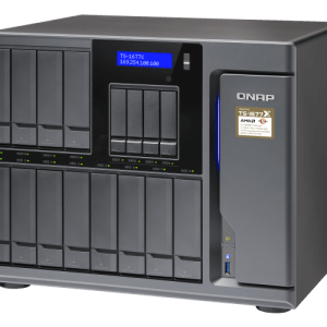 QNAP TS-1677X-1200-4G 16-Bay Tower NAS with 3.10 GHz AMD Ryzen 3 CPU and 4GB RAM