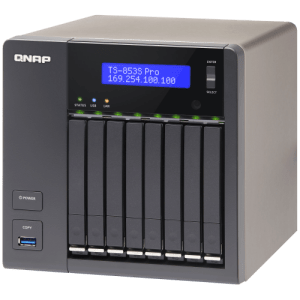QNAP TS-853SPro-4G 8-Bay Tower NAS with 2.00 GHz Intel Celeron CPU and 4GB RAM
