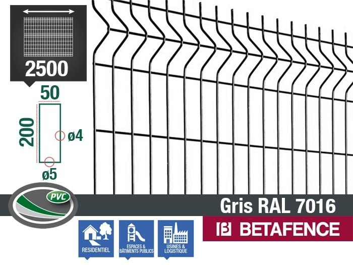 panneau grillage nylofor 3d essential gris ral 7016 betafence