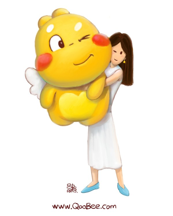 Giant Qoobee 60CM Stuffed Toy illustration