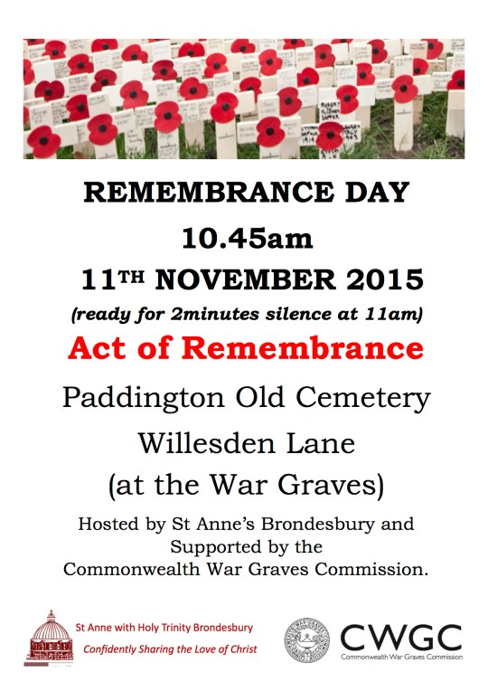 REMEMBRANCE DAY 2015