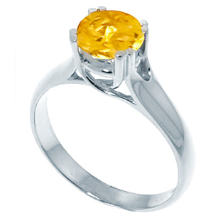 Sterling Silver 1.10ct Citrine Solitaire Ring