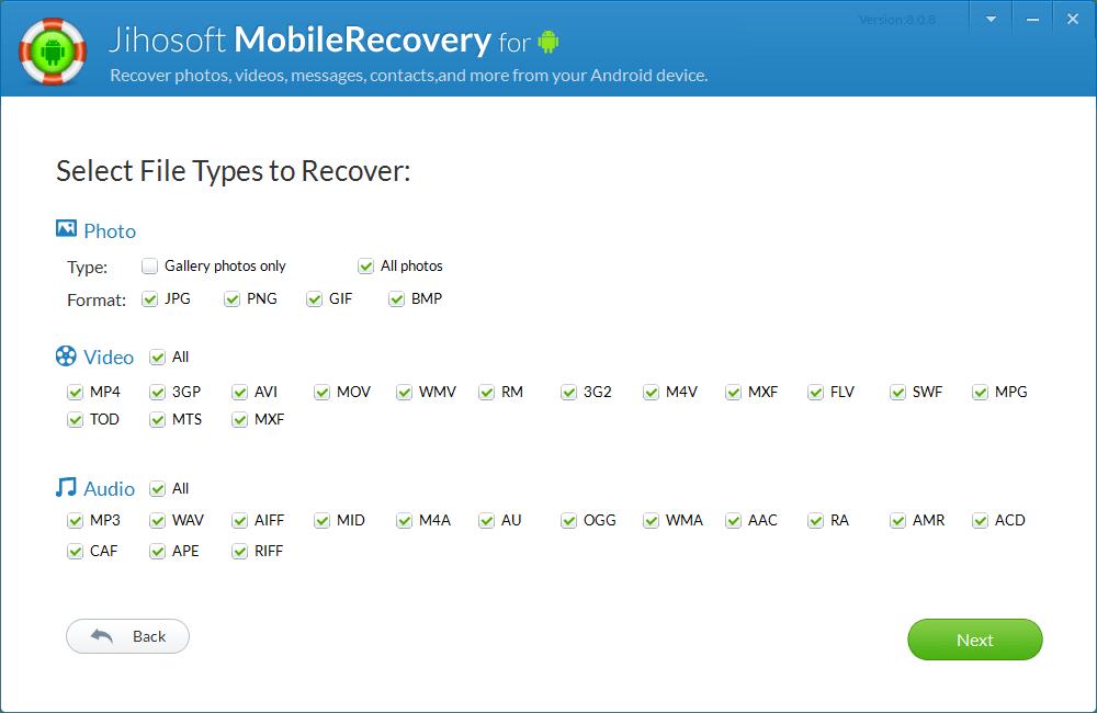 安卓手机数据恢复-Jihosoft Android Phone Recovery破解版8.0.8 最新版-腾牛下载