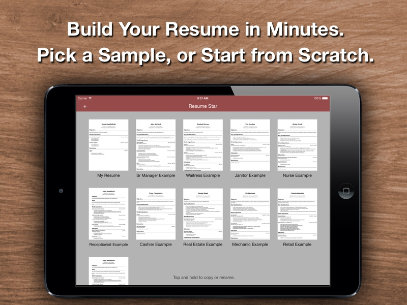 Resume Star  Top Rated Resume Designer for the iPhone  iPad  and     Resume Star  Top Rated Resume Designer for the iPhone  iPad  and iPod Touch
