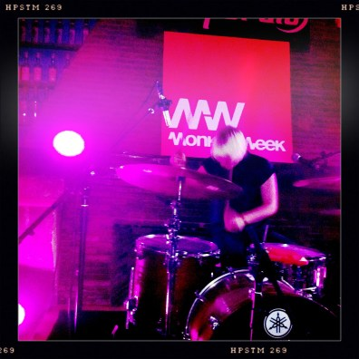 Maria Juntunen on drums