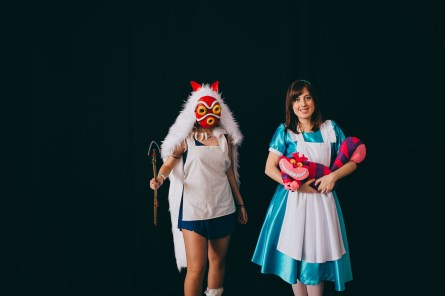 Princess Mononoke and Alice in Wonderland (with Cheshire Cat)
