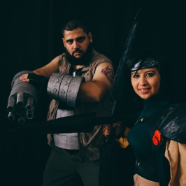 Barret Wallace and Yuffie Kisaragi