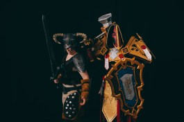 Dragonborn (Skyrim) and Retribution Paladin (WoW) cosplay