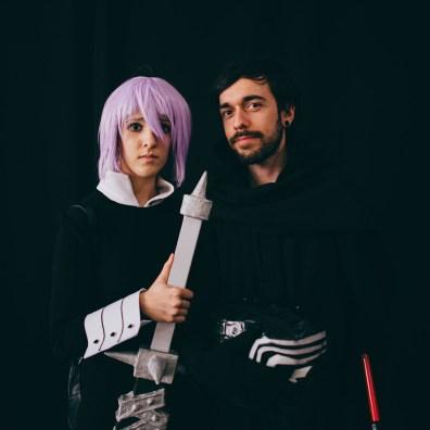 Anime girl and Kylo Ren