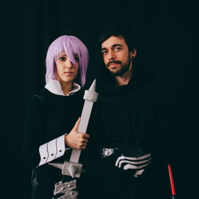 Anime girl and Kylo Ren