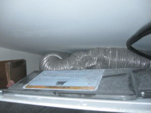 Damaged Clothes Dryer Flex Duct