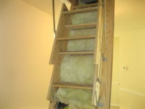 Raleigh Home Inspector on attic stair insulation