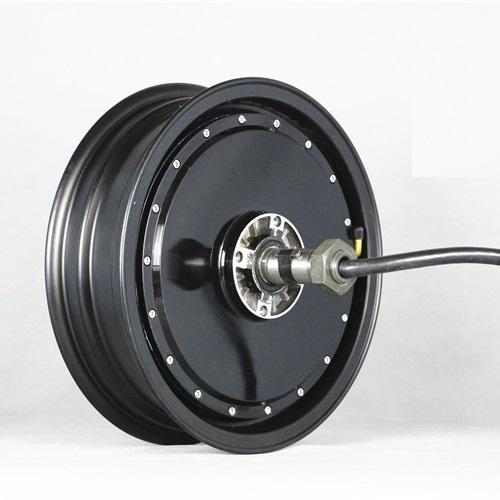 rueda motor de eje único con rim desmontable para scooters eléctricos