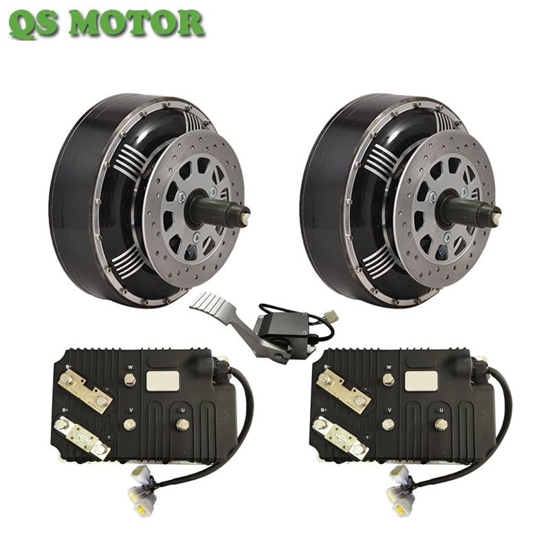 QSMOTOR 4WD 8000W 96V Electric Car Hub Motor