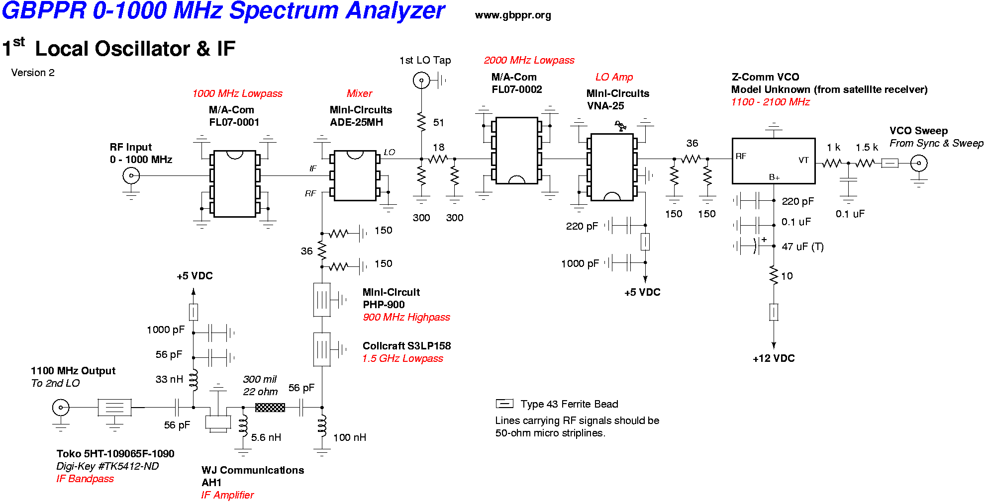 Fl07 G Dc 1ghz Low Pass Filter M A Com X10pcs