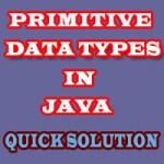 Java primitive data types size