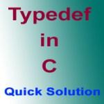 Typedef in C