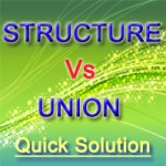 Difference between Structure and Union