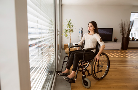Adorably generic wheelchair stock photo