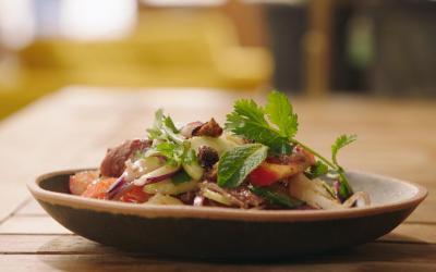 thaise salade met eend