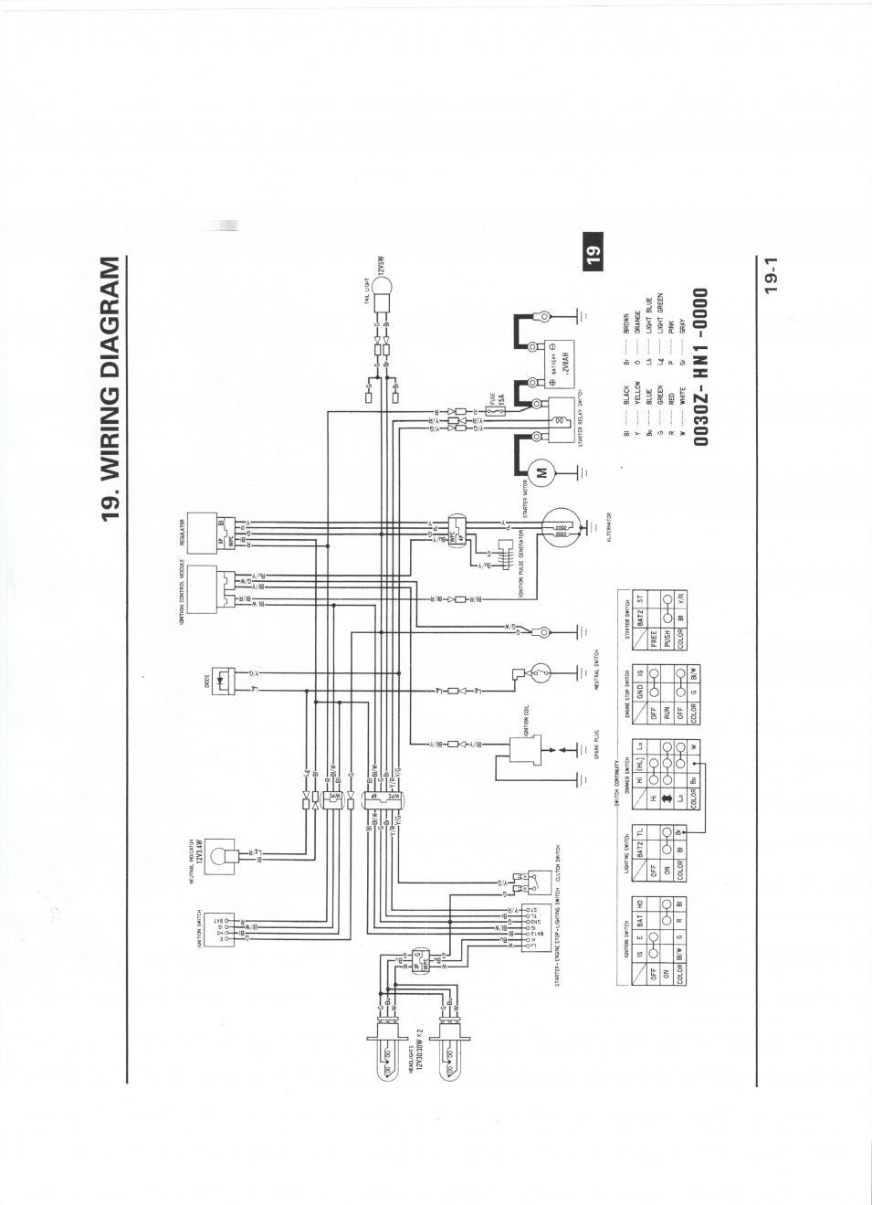 2001 honda 400ex wiring