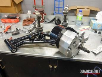 Installation des bras de suspension arrière