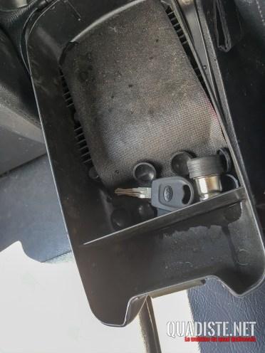 Rangement coffre central