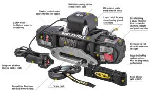 Smittybilt 98510 X2O10 Comp Gen2 Winch with Synthetic Line | Quadratec