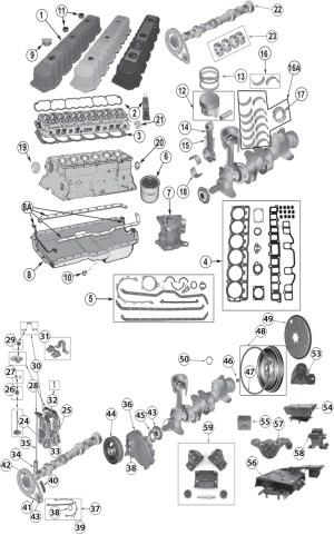 19872006 Jeep 40L (242ci) Inline 6 Cylinder Engine