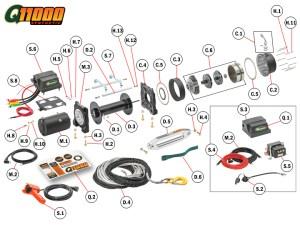 Q11000s Winch Replacement Parts | Quadratec