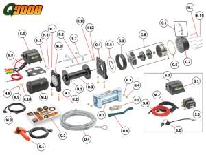 Q9000 Winch Replacement Parts | Quadratec