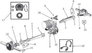 Jeep CJ Series Drive Shaft Parts | Quadratec