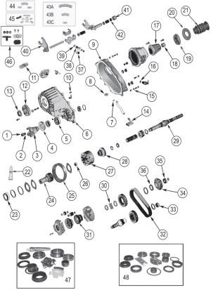 NP242 Replacement Parts ('84'07)   Grand Cherokeewj