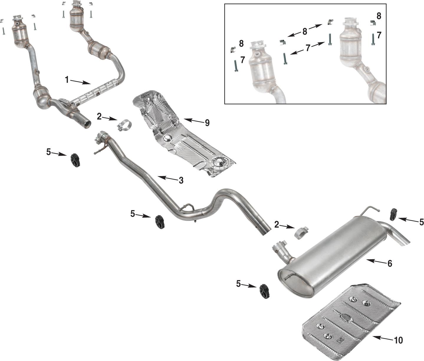 jeep wrangler jk exhaust parts 07 11