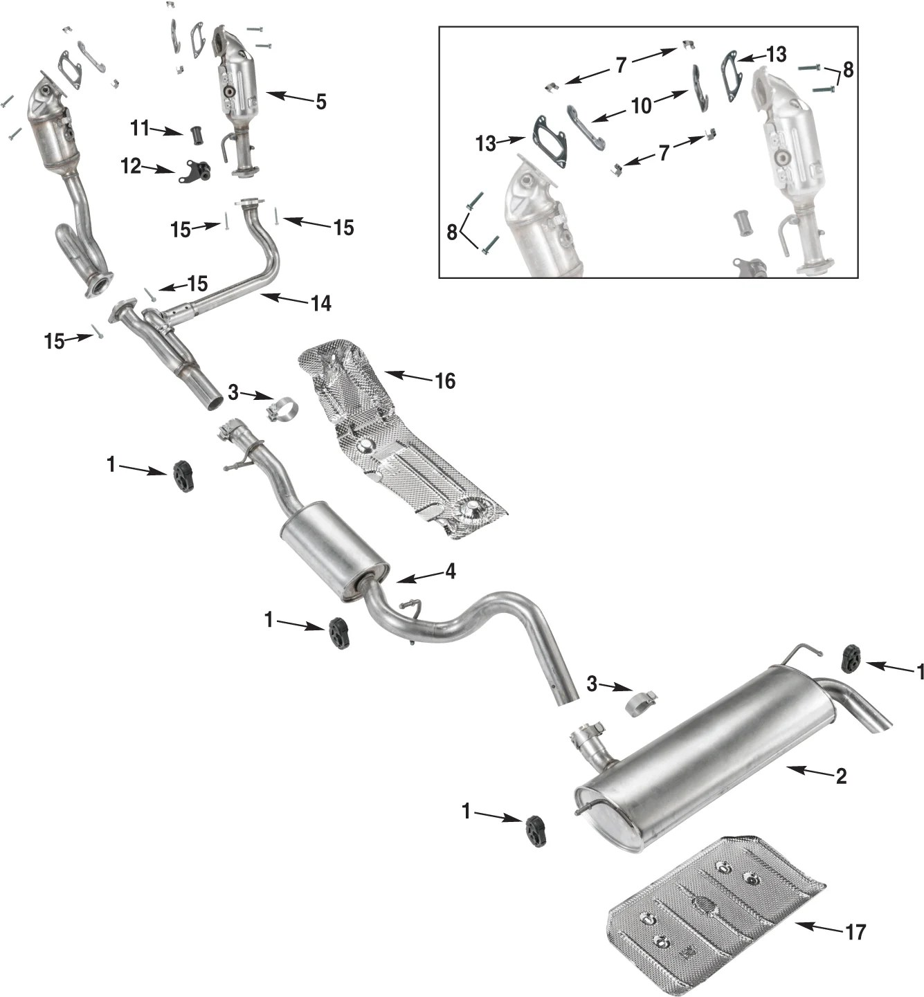 Jeep Wrangler Jk Exhaust Parts 12 17