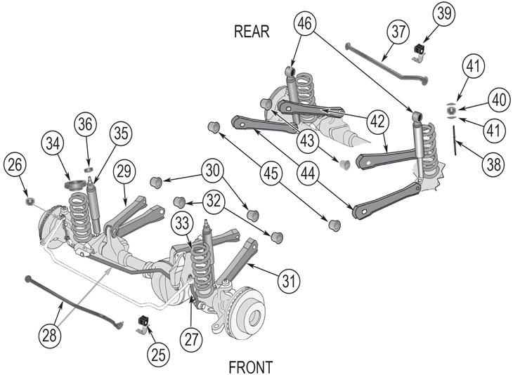 jeep grand cherokee zj suspension parts