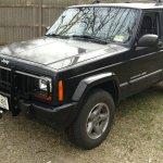 Tomken Machine Tmg 1501 Xj Front Grill Guard In Black For 84 01 Jeep Cherokee Xj With Stock Front Bumper Quadratec