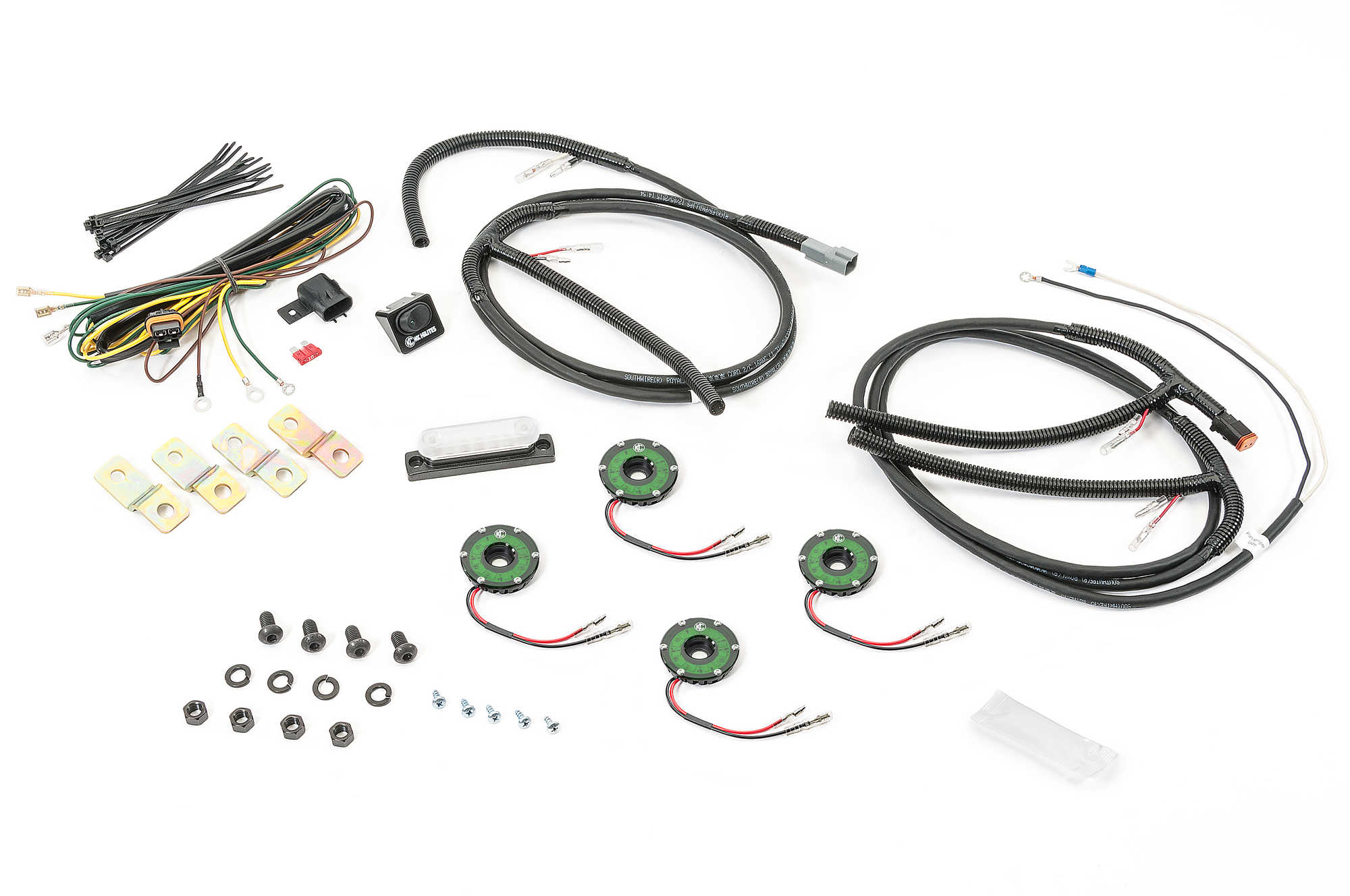Kc Hilites Cyclone Led Rock Light Kit For 07 16 Jeep
