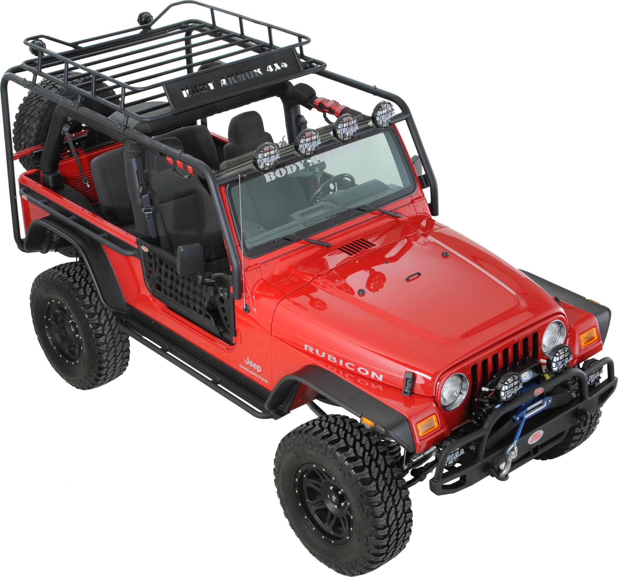 body armor tj 6125 roof rack base kit for 97 06 jeep wrangler tj