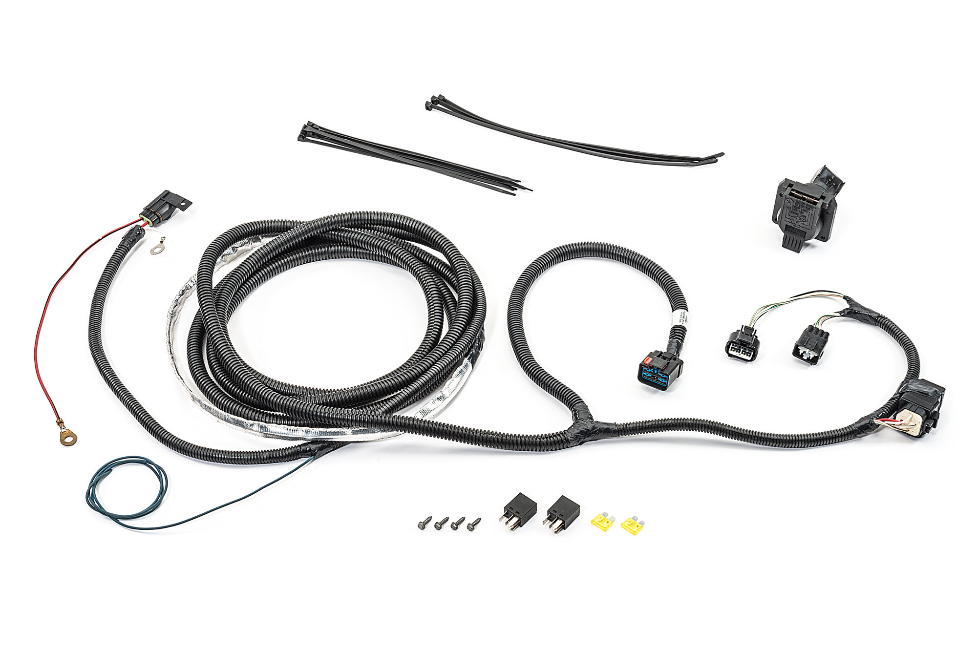 Mopar Ab 7 Way Round Hitch Wiring Harness For 05