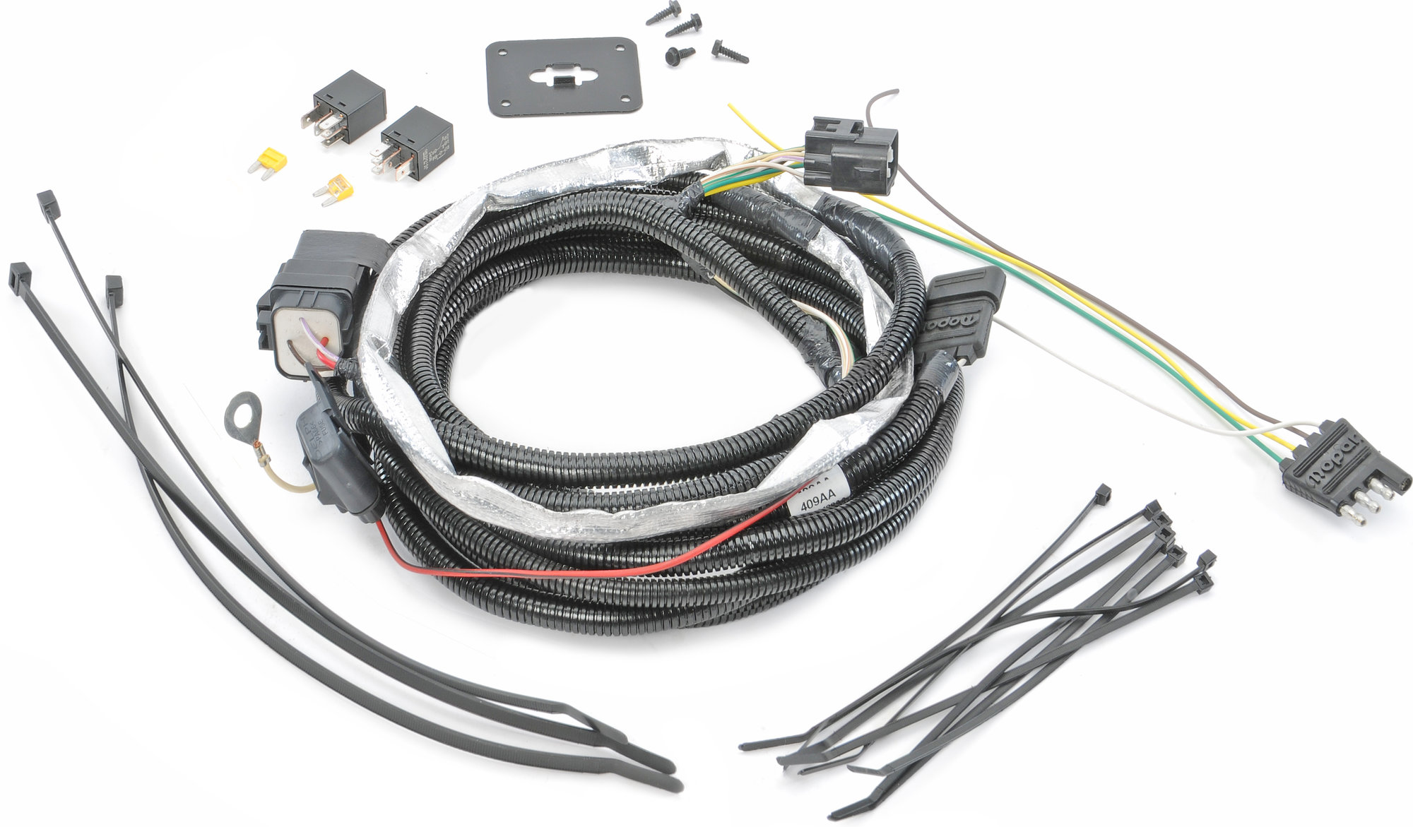 Mopar Ab 4 Way Flat Hitch Wiring Harness For 05