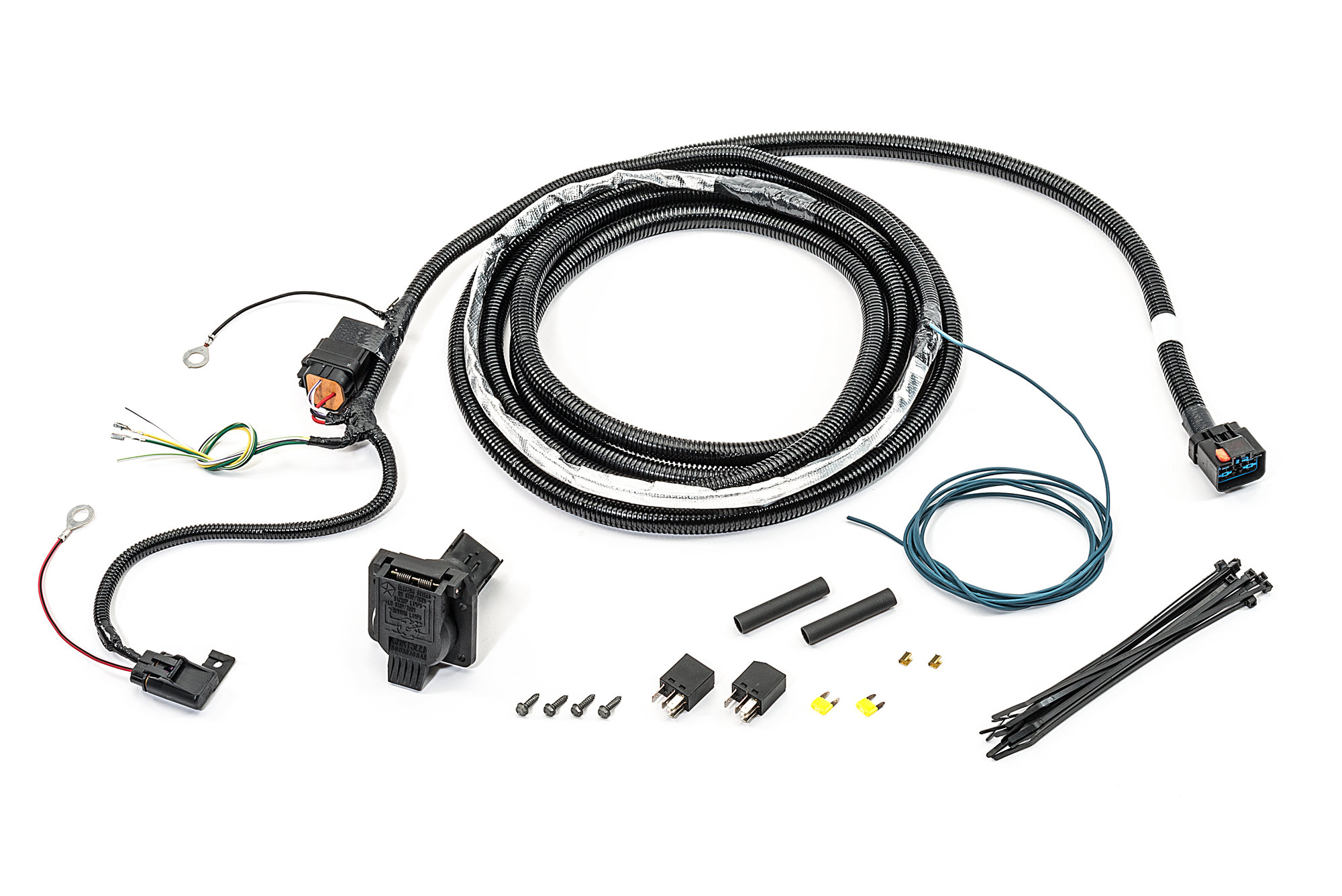 Mopar Ac 7 Way Round Hitch Wiring Harness For 07