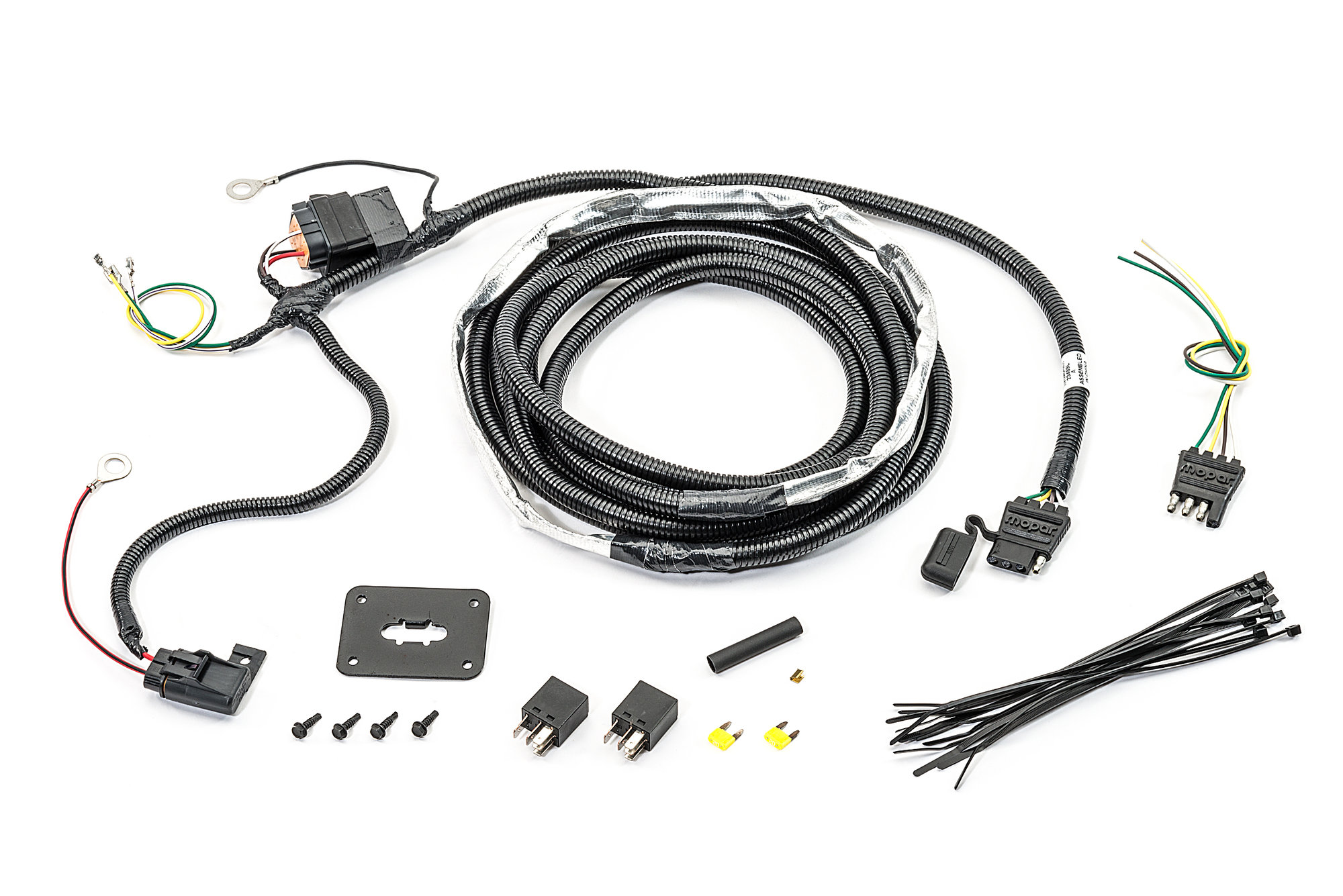 Mopar Ad 4 Way Flat Hitch Wiring Harness For 07 09