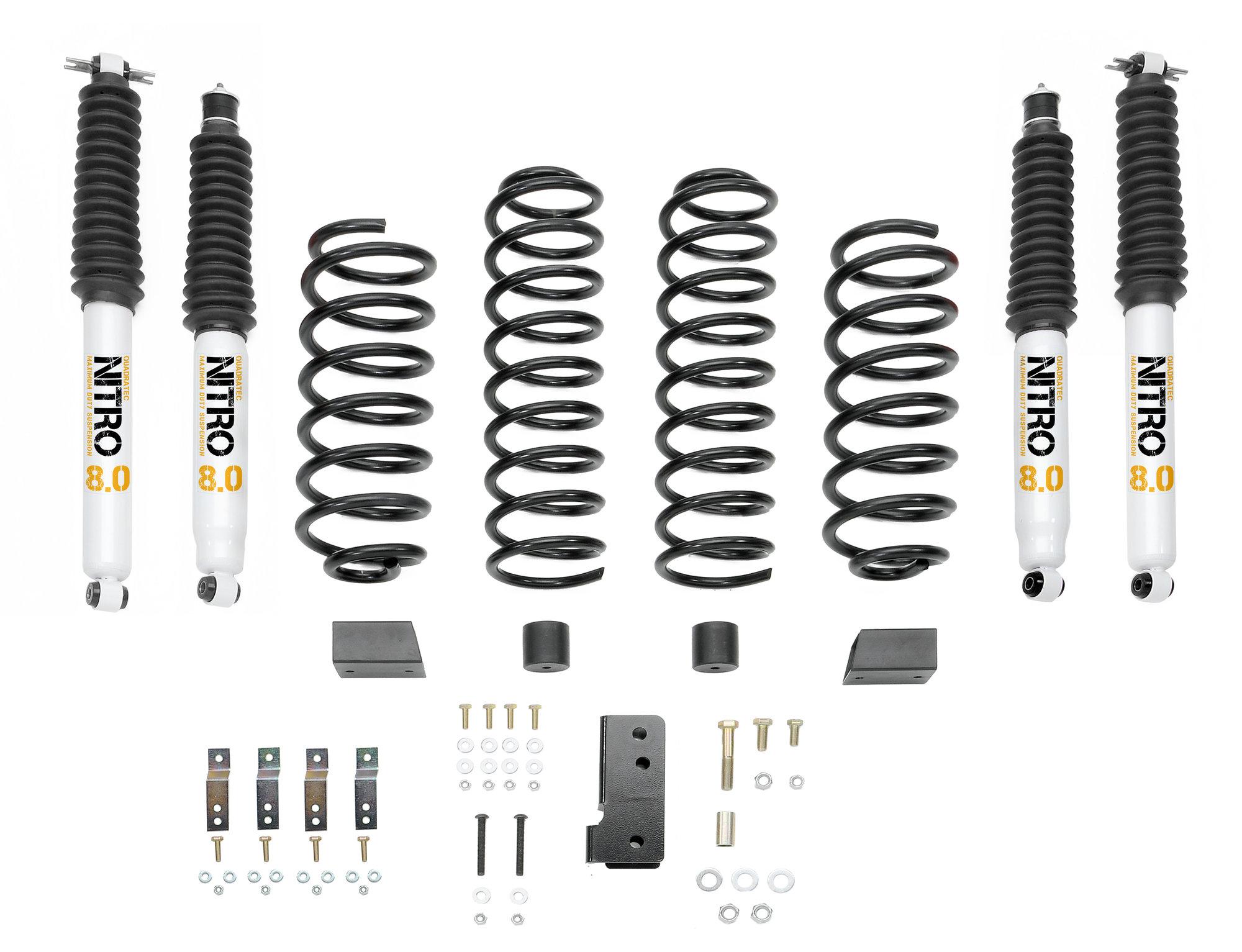 Quadratec Maximum Duty 2 5 Coil Spring Suspension Lift Kit