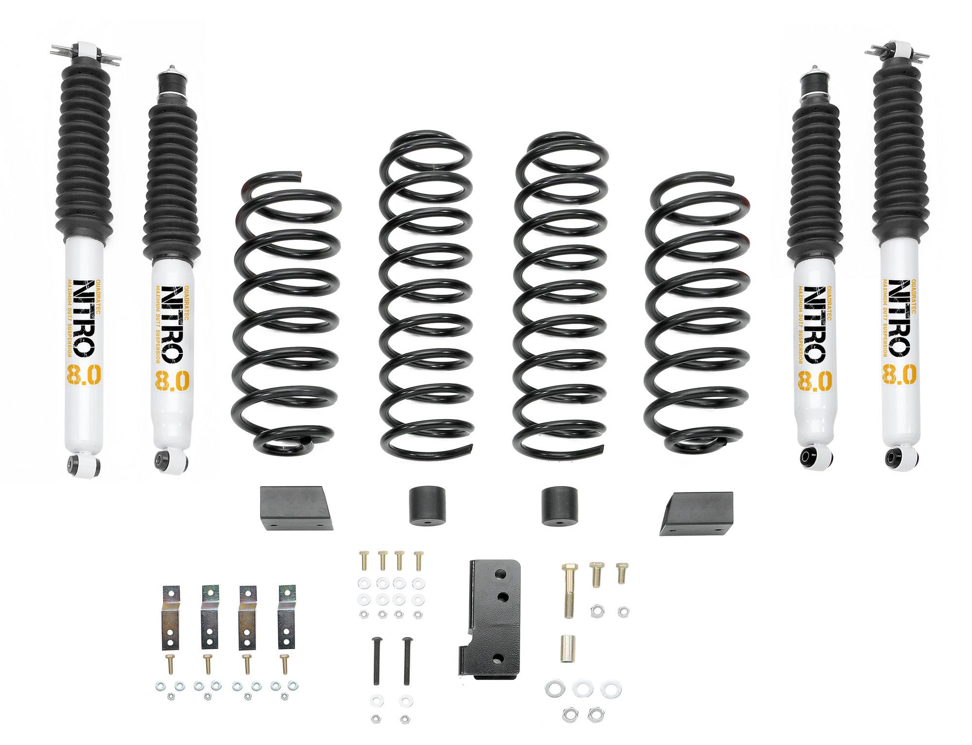 Quadratec Quadratec Max Duty 2 5 Suspension Lift Kit With