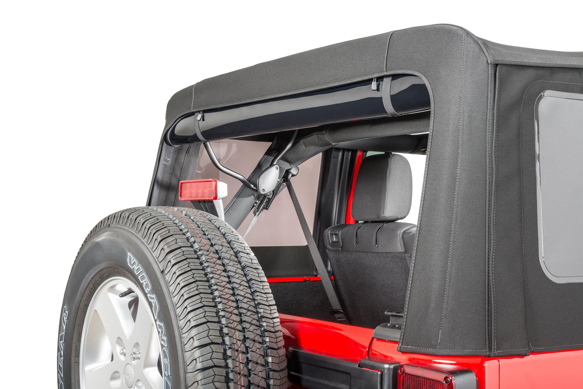 Quadratec 11000 0090 Rear Window Elastic Amp Velcro Strap