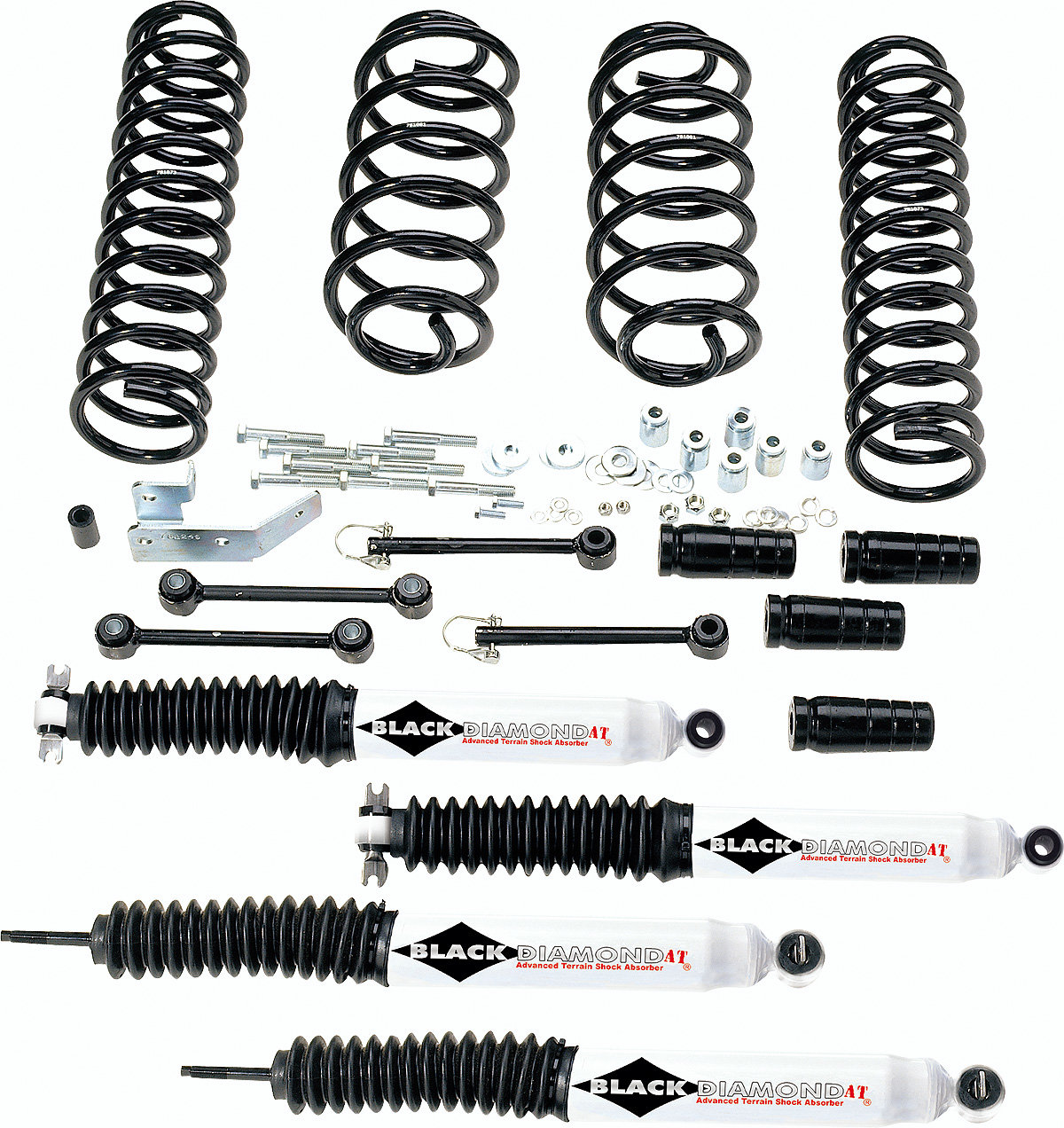 Black Diamond 3 Suspension Lift Kit With At Shocks For 97