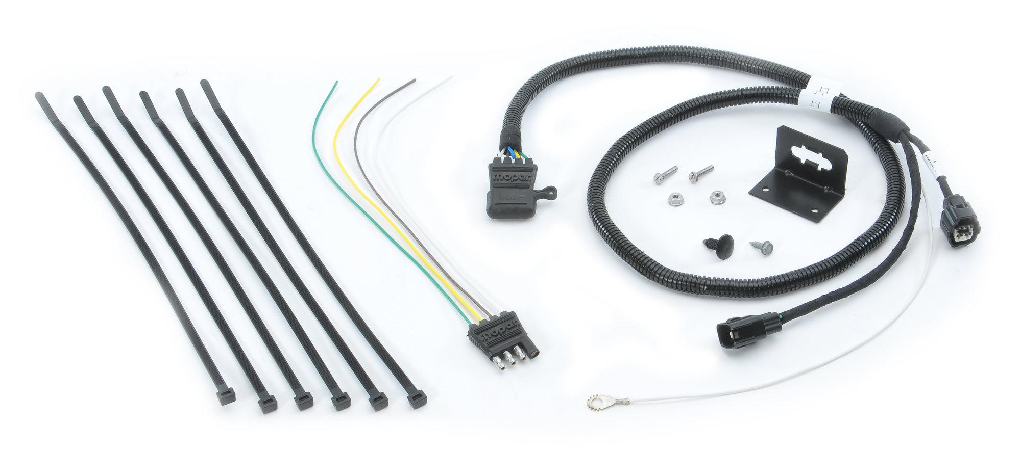Mopar 4 Way Flat Trailer Connector Wiring Kit For 05 06 Jeep Wrangler Tj