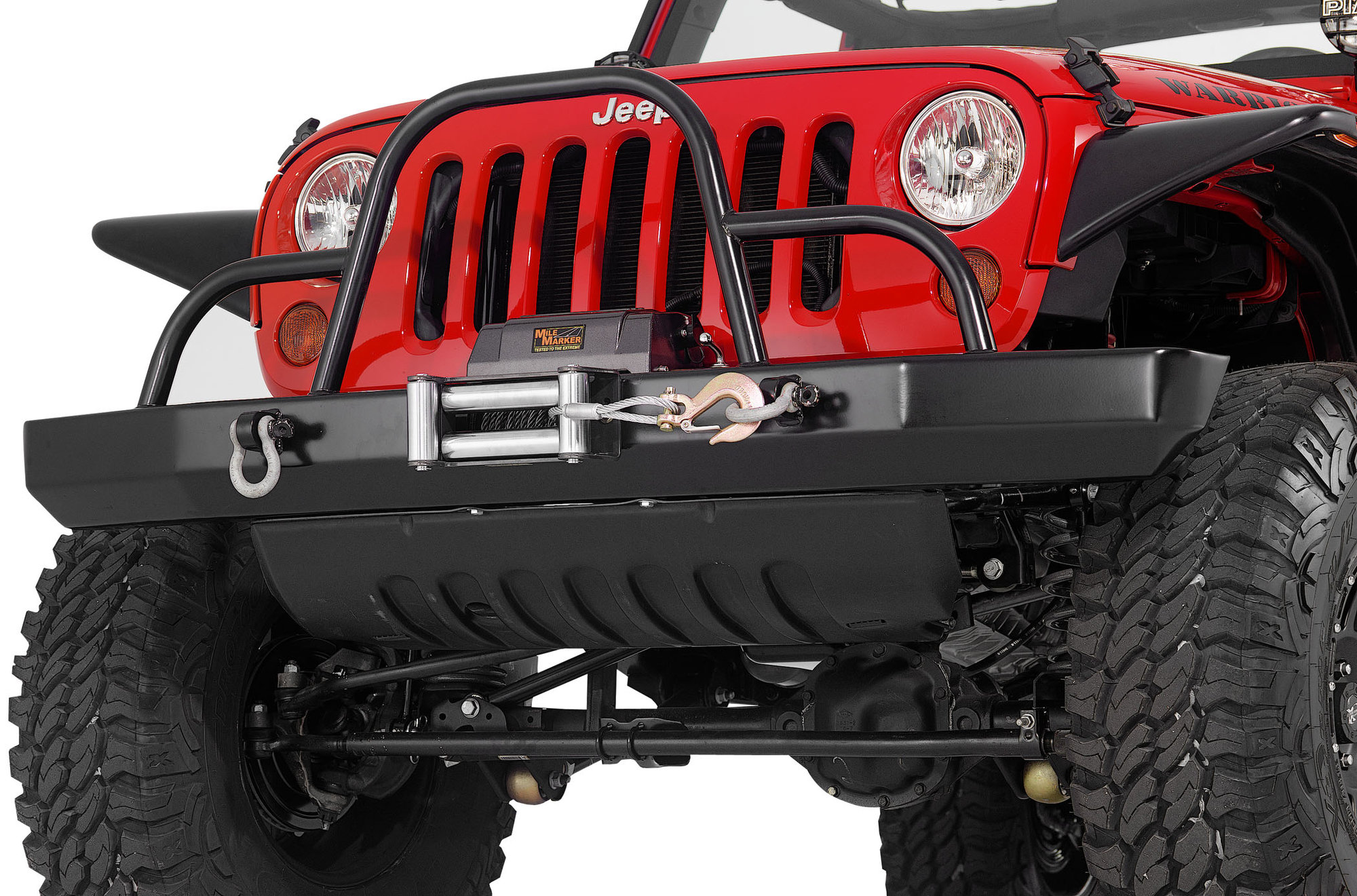 Warrior Products Front Rock Crawler Bumper With Winch