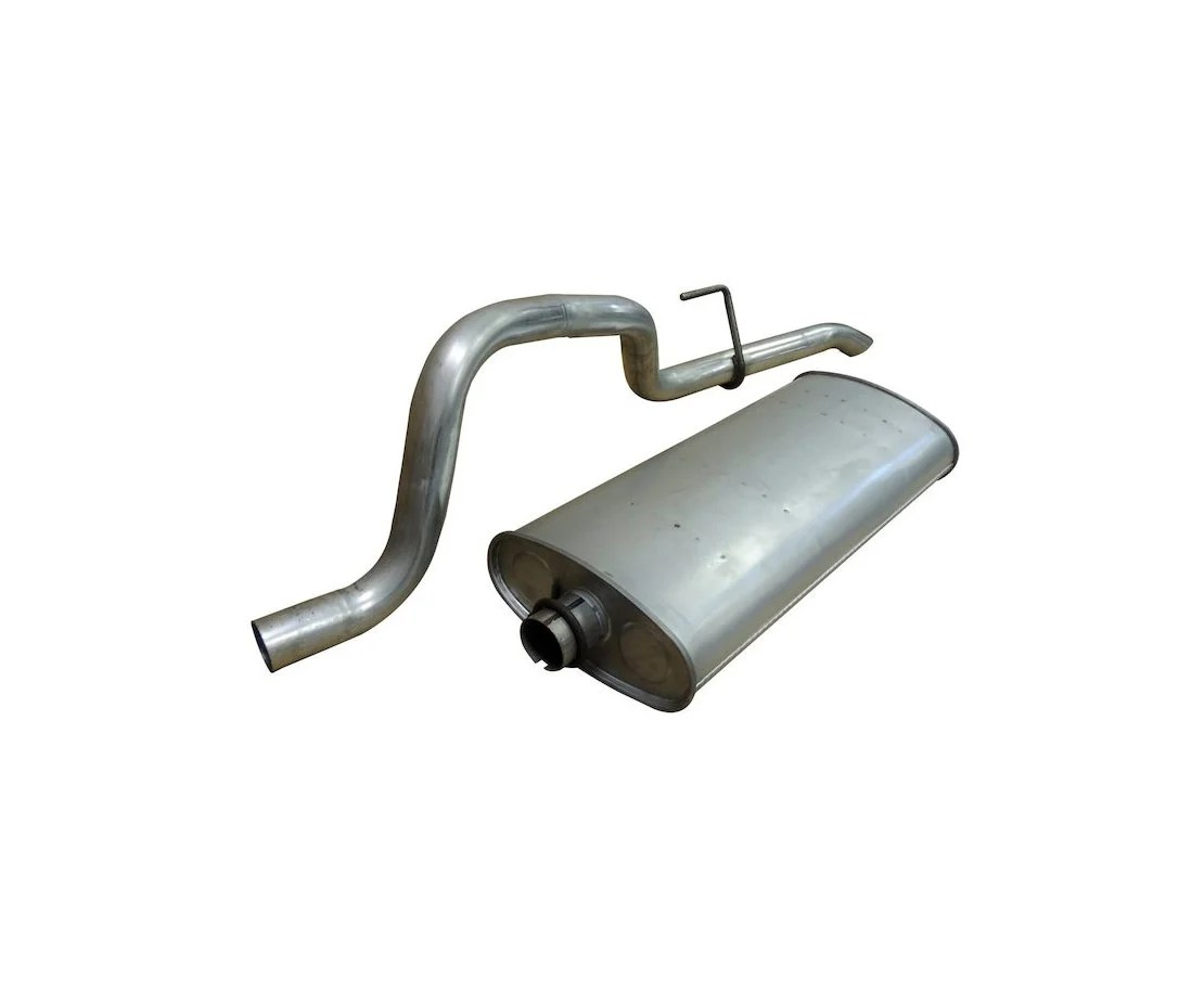 crown automotive 5096298aa replacement stainless steel muffler tail pipe for 99 01 jeep grand cherokee wj with 4 7l engine